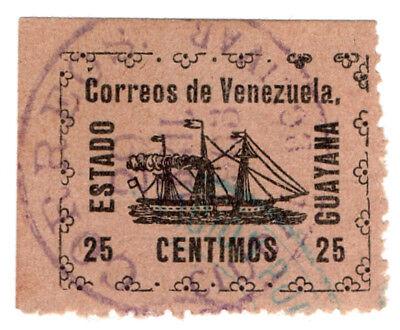 (I.B-CK) Venezuela Local Post : Guyana State 25c