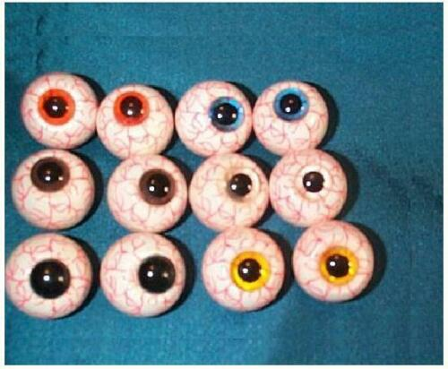 Clearance Sale - 12 Veined Floatable Eyeballs - Halloween Pack - New/Old Stock
