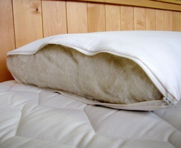 latex wool bed pillow wrapped eco wool