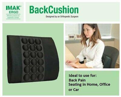 IMAK Products Back Lumbar Support Cushion A30122 - Charcoal Black - NEW! ()