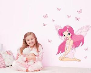 Pink girl Home room Decor Removable Wall Sticker/Decal/Decoration