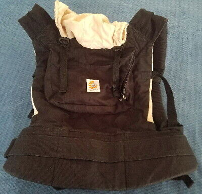 ERGO BABY  BLACK & CAMEL CARRIER GOOD CONDITION