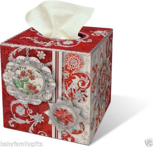 Christmas Tissue Box Cover Ebay