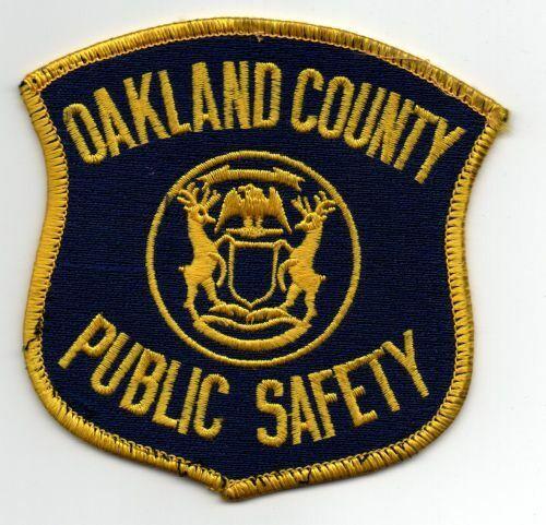 MICHIGAN MI OAKLAND COUNTY PUBLIC SAFETY PATCH POLICE SHERIFF