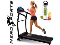 NERO PRO TREADMILL Fixed Incline Electric Motorised Folding Running Machine SPACE SAVER 13 PROGRAMS