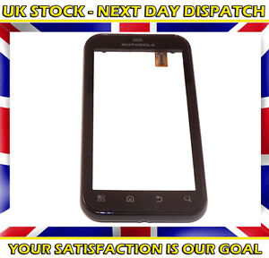 Black Digitizer Glass Touch Screen Lens  Pad With Frame For Motorola Defy MB525
