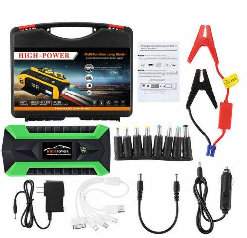 New 89800mAh Car Jump Starter Pack Booster 4 USB Charger Battery Power Bank