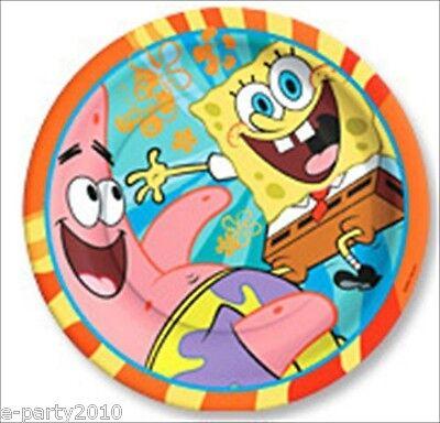 SPONGEBOB SQUAREPANTS BUDDIES SMALL PAPER PLATES (8) ~ Birthday Party Supplies  Spongebob Squarepants Birthday Party Supplies