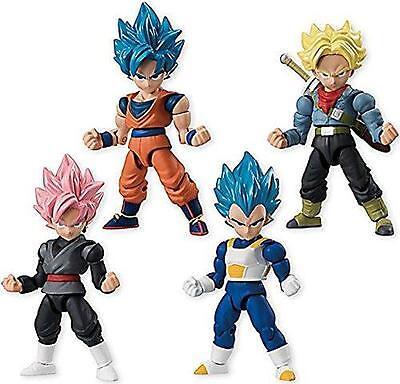 Dragon Ball Super 66 Action Dash Saiyan Mini Action Toy Figure Set of 4pcs Anime