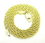 Mens 10K Solid Gold Chain