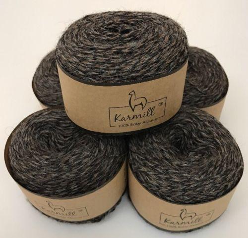 Alpaca Wool Skeins 100 Baby Alpaca Yarn Lot Of 5 Mulinex Color 1200 - $29.00