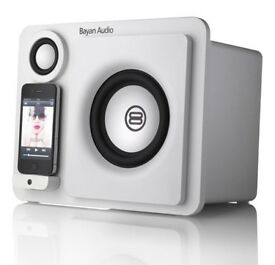 Bayan Audio 3XL Limited Edition White Speaker Dock for iPhone & iPod