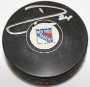 Ryan Callahan Signed Puck