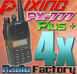 4x Puxing PX-777 PLUS UHF400-470MHZ +Cable