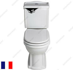 Sticker autocollant wc toilettes monstre humour drole for Autocollant porte wc