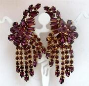 Vintage Long Rhinestone Earrings