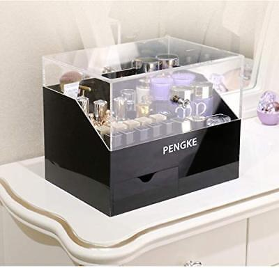 PengKe Makeup Organizer Acrylic Cosmetic Storage Drawer and Jewelry Display Case