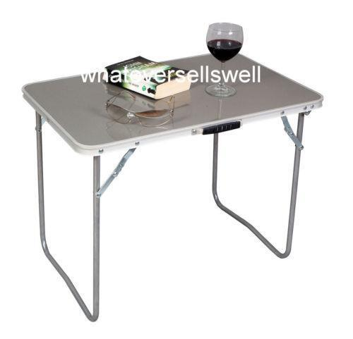 folding camping table ebay. Black Bedroom Furniture Sets. Home Design Ideas