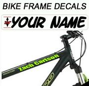 Bicycle Frame Decals