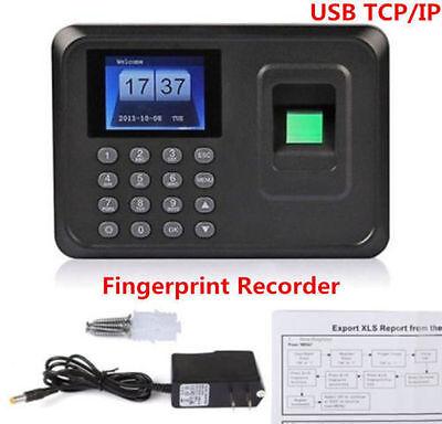 Biometric Fingerprint Attendance Time Clock Employee Payroll Recorder Tcpipusb