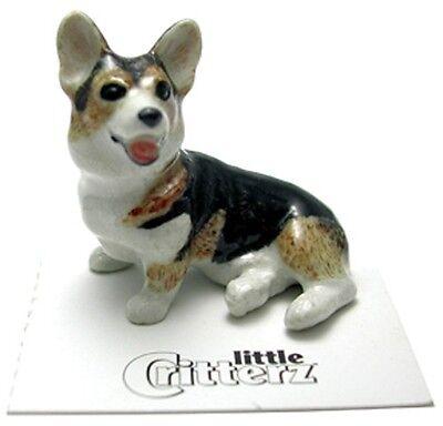 ➸ LITTLE CRITTERZ Dog Miniature Figurine Corgi Cardigan Taffy