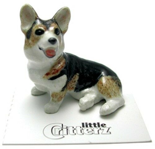 ➸ LITTLE CRITTERZ Dog Miniature Figurine Corgi Cardigan Taffy