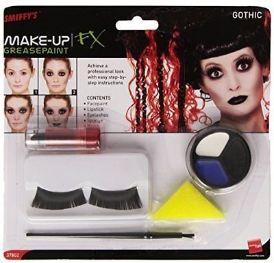 Halloween Make Up Set (Smiffys Gothic Make Up Set Face Paint Halloween Fancy Dress Party Emo)