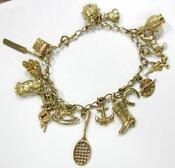 9ct Solid Gold Charm Bracelet