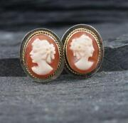 Sterling Cameo Earrings