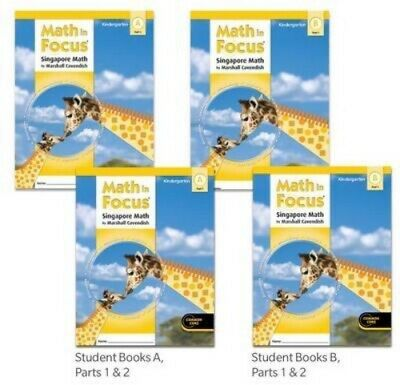 Common Core Kindergarten (Grade K Math in Focus Student 4-Book Set Kindergarten 2012 Common Core)
