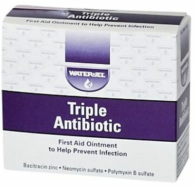 Lot Of 25 Triple Antibiotic Ointment First Aid By Water Jel W  Free Shipping