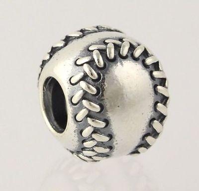 NEW Pandora Baseball Charm - 925 Sterling Silver Bead Women's 790969 Sports