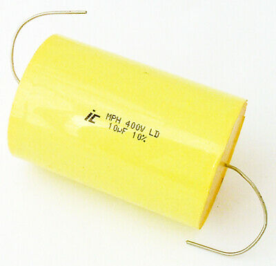 10uf 400v 10 Axial Film Metalized Polypropylene Capacitor
