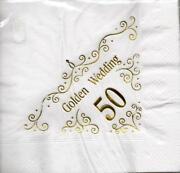 Golden Wedding Napkins