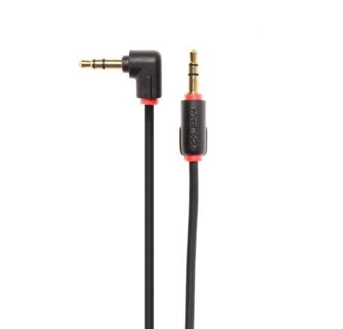 Techlink WiresNX2 50cm Right Angled 3.5mm Stereo Mini Jack to straightMini jack