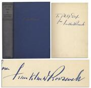 Franklin Roosevelt Signed