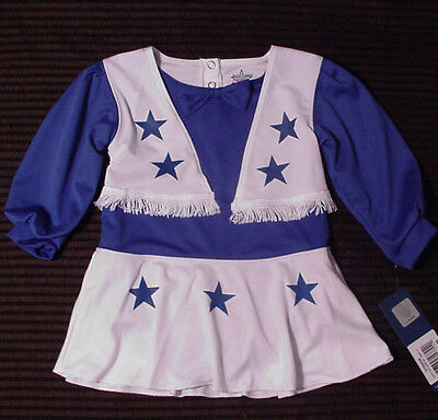 NWT Dallas Cowboys Girls Cheerleader Outfit Dress Halloween Costume Sz 2T XS