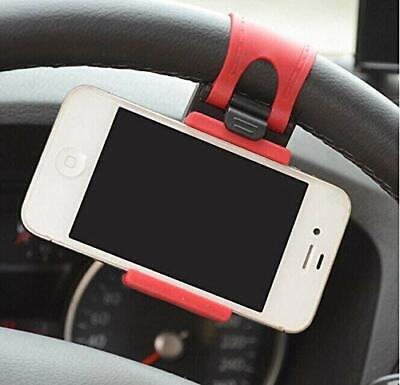 Universal Cell Phone Car Mount Holder on Steering Wheel Better View & Buckle