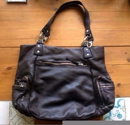 All Saints large leather bag - like new!