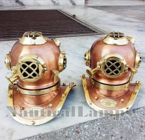 Lot 2 Unit Divers Helmet Vintage Diving Helm Collectible Gift Antique Decorative