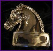 Glass Horse Bookends