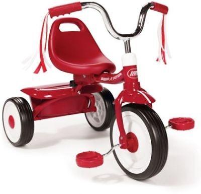 Radio Flyer Folding Trike, Red Tricycle, Kids Bike, Toddler Ride Child Toy Kid