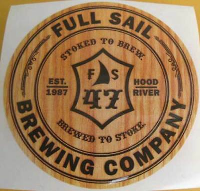FULL SAIL BREWING COMPANY Beer STICKER Hood River, OREGON, Brewed to Stoke label