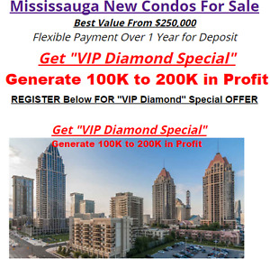 Mississauga New Condos For Sale Best Value From $250,000 !!