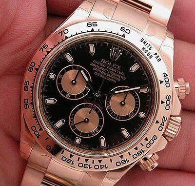 Rolex Cosmograph Daytona 116505 Everose Gold Oyster Black Index Dial 40mm Watch