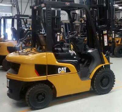 2015 Cat 5k 6k Lp Pneumatic Forklifts Mint Condition L