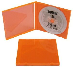 100-CDBSISTFOFFO-Fluorescent-Orange-CD-Jewel-Cases-Trays-Blacklight-Boxes