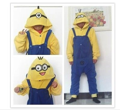 Despicable Me Minions Pajamas Unisex Cosplay Romper Minion Onsie1 Pajama Costume - Minion Onsies