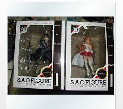 Anime Sword Art Online SAO I Asuna Yuuki & Kirito Lot 2 Figure Set S.A.O.  on Rummage