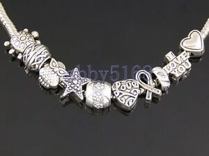 Wholesale 100 Tibetan Silver Bulk Lots Mix Beads Fit Charm Bracelet ZN012